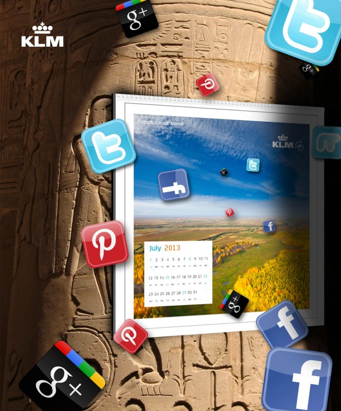 KLM Calendar - source http://on.fb.me/K829iD