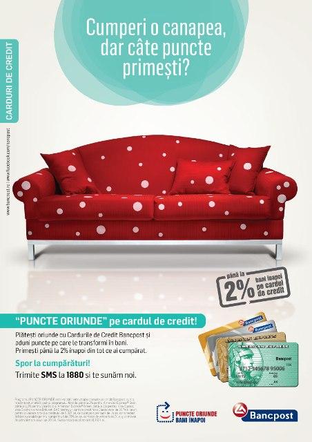Canapea cu puncte Bancpost
