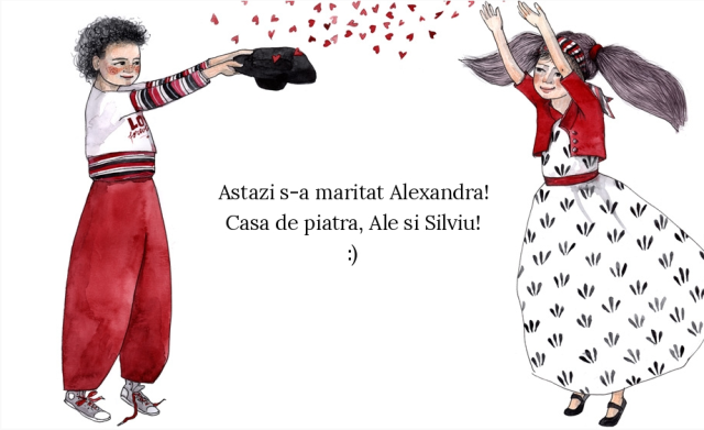 Astazi s-a maritat Alexandra. Casa de piatra, Ale si Silviu!