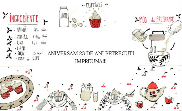 BRD - Felicitare - Aniversam 23 de ani petrecuti impreuna
