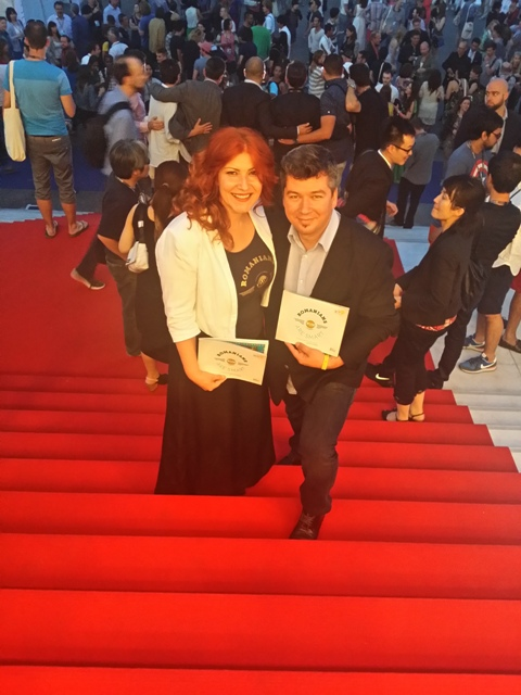 Teodora Migdalovici, ambassador Lions Festivals in Romania & founder The Alternative School of Creative Thinking, and Bogdan Herea, CEO PITECH+PLUS / ACADEMY+PLUS & supporter of Cyber category
