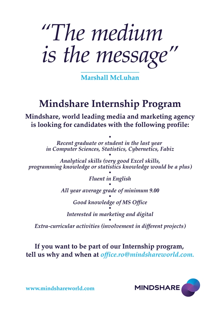 poster internship program Mindshare 2014 2
