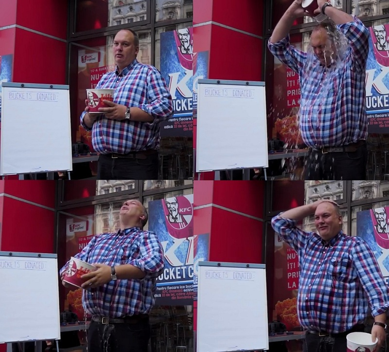 Mark Hilton and the KFC Ice Bucket Challenge