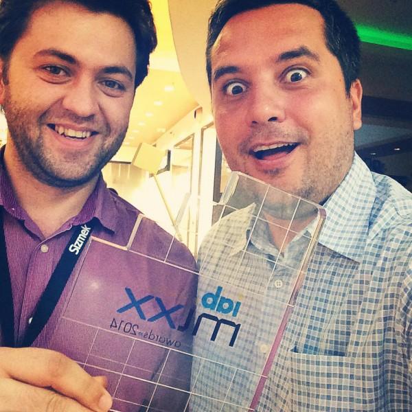 Mihai Daniel, Stefan Iarca & IAB Mixx trophy