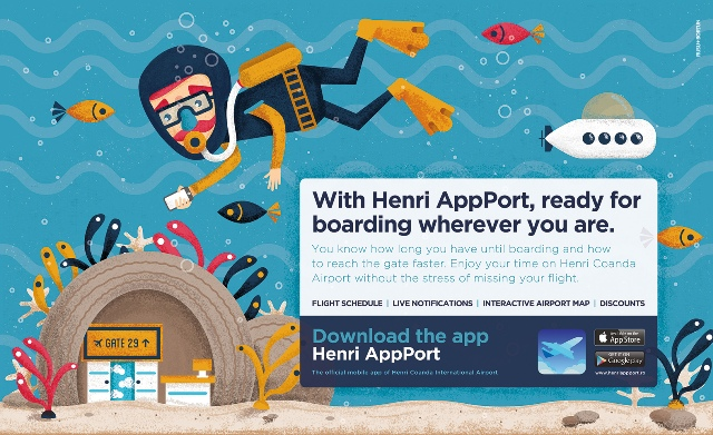 HenriApp Port - Panou Check In (scafandru)