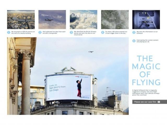 Ogilvy - The Magic of Flying, Billboard source: LIA