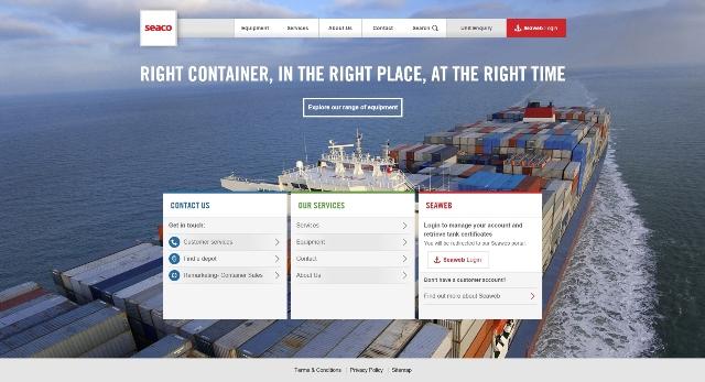 Seaco website - Home