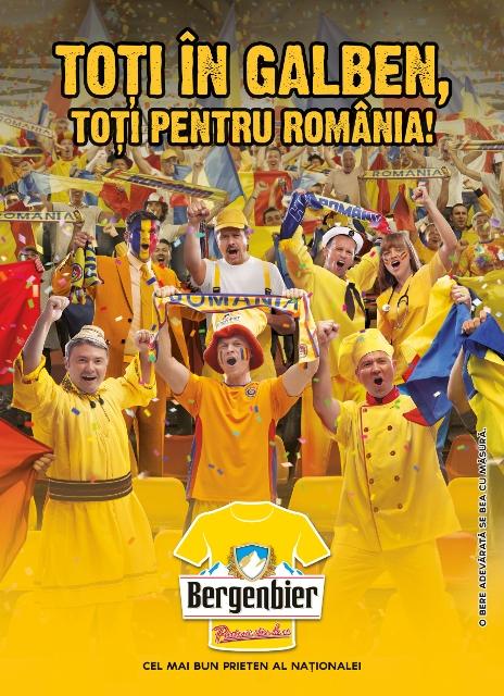 Bergenbier - Toti in galben, toti pentru Romania!