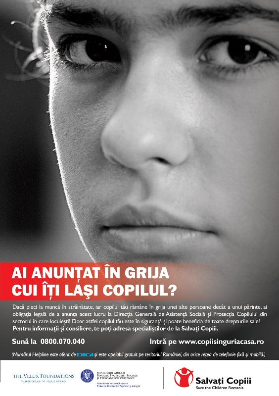 Salvati Copiii Romania - Campaign's Visual