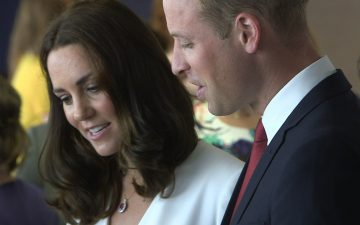 The Duke and Duchess of Cambridge joined the Warsaw–London Bridge launch at The Heart