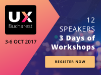 Tomorrow starts in Bucharest the 2017's User Experience Design International Conference