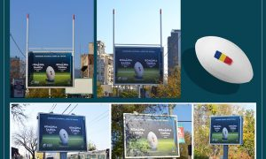 FCB Bucharest uses outdoor to promote Romanian Rugby Federation's next games
