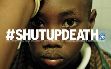 #ShutUpDeath, a campaign for Médecins du Monde signed by DDB° Paris