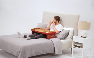 ​Toronto-based john st. came up with world's 1st pizza box designed for eating pizza in bed  ​