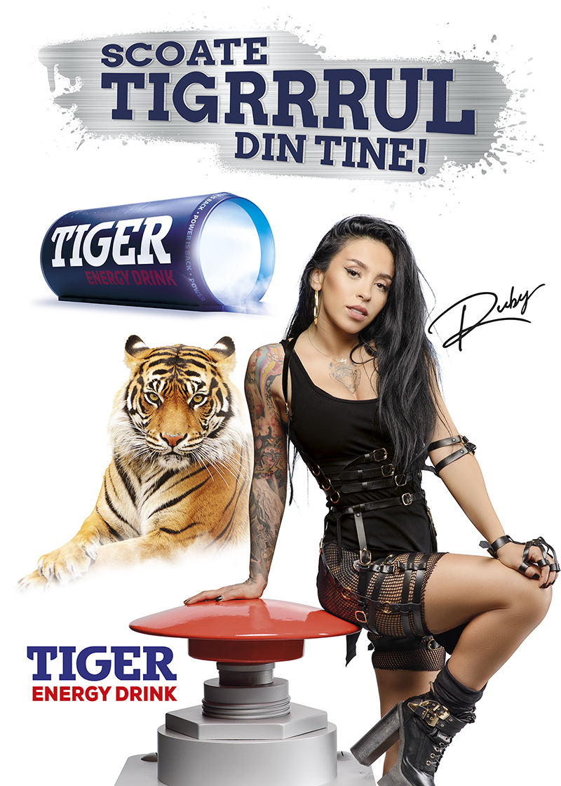 Tiger Romanian Singer Ruby And Ddb Romania Take The Tiger