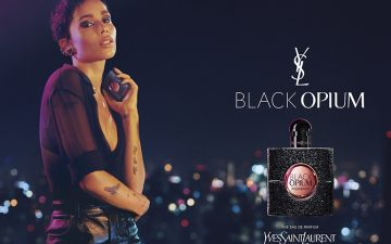 Zoë Kravitz, in a new campaign for Black Opium, signed by BETC Luxe
