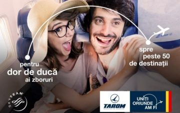 Propaganda signs a campaign for Romanian airline Tarom