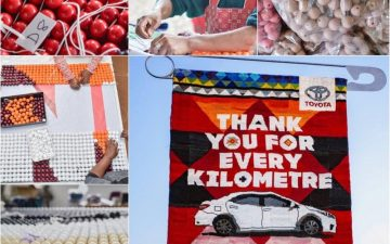Toyota SA, FCB Joburg created beaded billboard as Corolla love letter