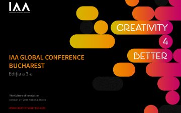 "The Global IAA Conference ""Creativity4Better"" comes back to Bucharest and announces the first speakers"
