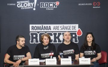 "Rock FM's ""Morning glory"" show launched the campaign ""Romania are sange de rocker"""