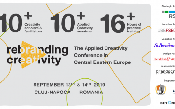 Rebranding Creativity 2019 to take place September 13-14th in Cluj-Napoca
