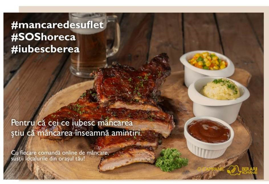 Brewers of Romania launched #MancareDeSuflet #SOSHoReCa, a campaign to support the HoReCa sector