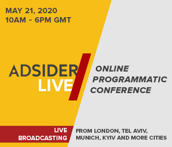 Adsider LIVE programmatic conference goes online on May 21